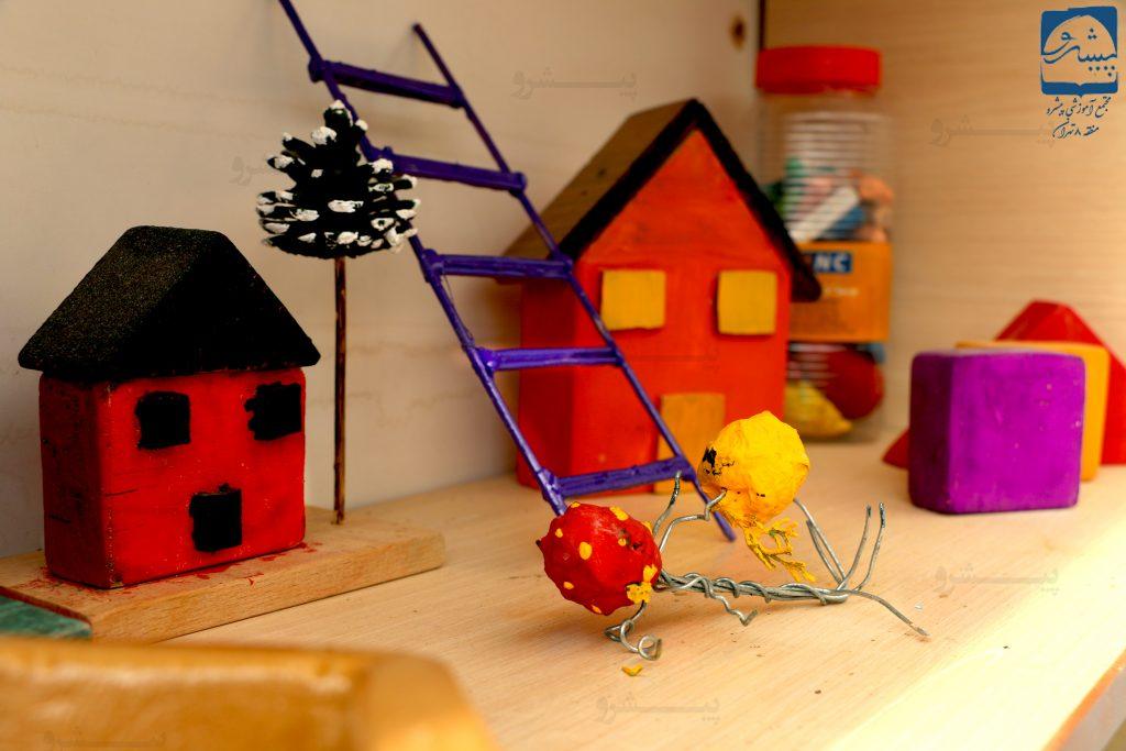 پارک علم و خلاقیت خلق اثار سه بعدی در مدرسه پیشرو